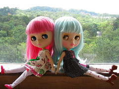 Bebe, Candy: Do u <3 our hair colors? (Pink Pinkle) Tags: doll candy bebe blythe hop msr ih
