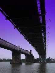 under the bridges of Runcorn with me... (perseverando) Tags: road bridge river railway mersey runcorn widnes manchestershipcanal supershot amazingshot flickrsbest mywinners anawesomeshot goldstaraward