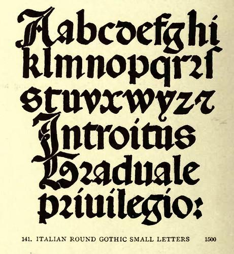 10-Gotico redondeado italiano minusculas año 1500