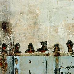 The jury (daliborlev) Tags: texture wall square urbandecay brno damage mundanedetail 500x500 humanheads peelingplaster