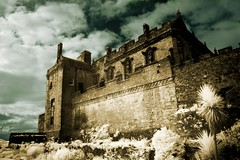 Stirling Castle in Infrared. (coulombic) Tags: castle tourism photoshop canon ir scotland stirling infrared 5d canon5d canoneos digitalinfrared stirlingcastle falsecolor infraredfilter infraredcamera canoneos5d gabefarnsworth canonef1635mmf28l maxmaxcom infraredlight canoninfrared converteddigitalcamera infrareddigitalphotography coulombic ldpllc canoneosinfared