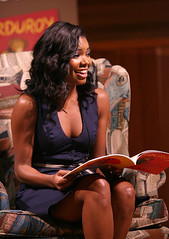 Gabrielle Union reading a book