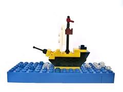My 1st ship (piotrlewand) Tags: ship lego pirates microscale