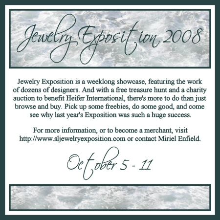 Jewelry Expo 2008/Dated - Web Graphic by Miriel Enfield