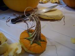 Artsy pumpkin top