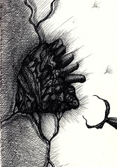 Tug My Heartstrings (Timo3K (muteprophet)) Tags: art pen sketch surrealism gothic surreal sketchbook lowbrow