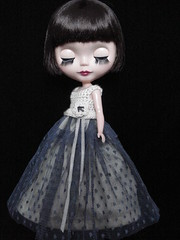 Vanilla and grey posh party frock (polly :)) Tags: hat doll polly frock blythe etsy posh granny madge jacet