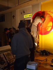 Live graff on opening night (LotzUp) Tags: art graffiti brighton fors 101crew thekrah greekartist visualimprints drwren