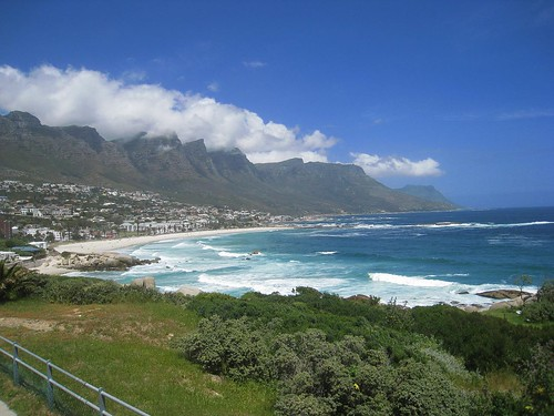 View of Camps Bay (celebrity/wealthy part of town)
