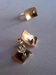 Sterling Silver Drop Post Earrings (Cynthia Del Giudice) Tags: geometric del post jewelry jewellery earrings etsy posts brass cynthia rectangle concave gioielli sterlingsilver joyas giudice cynthiadelgiudice silvernugget