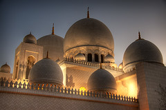 Sheikh Zayed Mosque (momentaryawe.com) Tags: sunset muslim islam religion uae mosque abudhabi domes hdr islamic sheikhzayedmosque