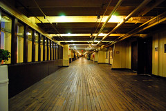 The Promenade Deck (Geekstalt) Tags: ocean california travel halloween museum hotel scary ghost queenmary longbeach artdeco ghosts liner oceanliner spectres thegreyghost