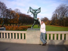 Olga at Oslo Vigeland Park #2