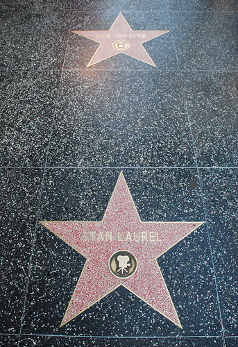 Dick Van Dyke's and Stan Laurel's Walk of Fame Stars