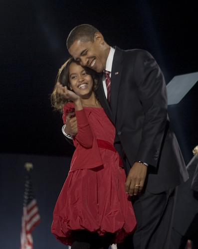 Barrack and Malia