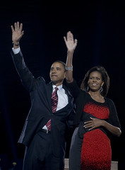 Obamas on election night