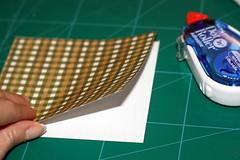 Adhering patterned paper together - back-to-back