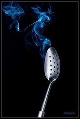 The spoon's aura (Filipe Batista) Tags: reflection luz canon studio smoke spoon estudio products reflexos fumo produtos canonef24105mmf4lisusm 40d filipebatista