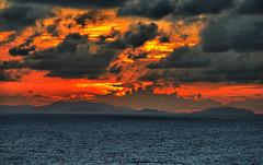 Fire in the Caribbean Sky (Jeff Clow) Tags: travel sunset tourism weather islands twilight bravo explore caribbean dfw specsky jeffrclow vosplusbellesphotos