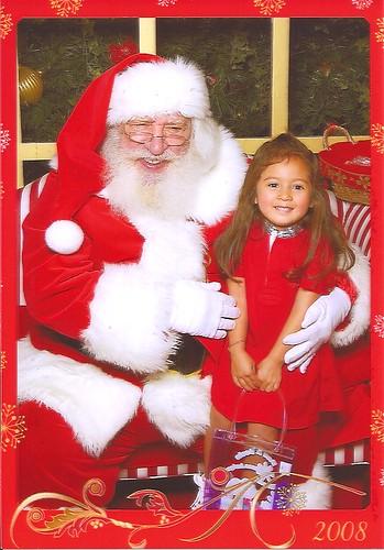 Princess D & Santa