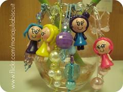 Mais chaveirinhos (Alane • maria julia biscuit) Tags: cute cores handmade artesanato artesanal biscuit fofo cor colorido porcelana porcelanafria feitoamao