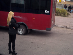 Blonde sad smoker (GrusiaKot) Tags: people 6 hot bus girl cool nice highheels slim boots smoke style ukraine smoking riding stop transit rest wilderness smoker provincia transito ukrainian viaggio fit ukraina fumo fumare  ucraina stivali corriera  inmezzoalnulla 6millionpeople millionpeople ucrainiangirl
