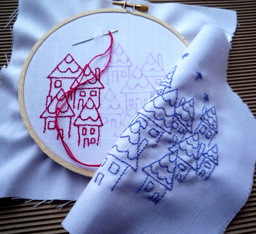 Stitching Little Houses by you.