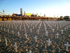 IRAQ War Santa Monica beach, LA