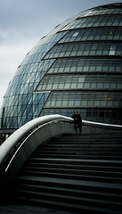 . The City II . (3amfromkyoto) Tags: city blue man london glass metal grey hall steps tiles 3amfromkyoto