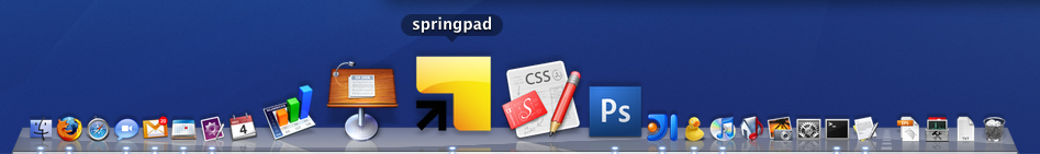 springpad in a desktop dock