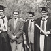Mr Gregory Colin Elfick (B.Eng in Mechanical Engineering) with Mike Elfick, Mr David William Hayes and Mr Jim Hayes, the University of Newcastle, Australia - 1990