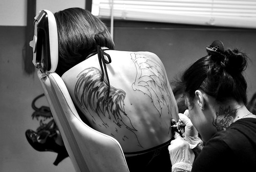 Angel Wings Tattoo Work In Progress