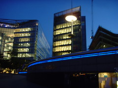 Building (carlosjg75) Tags: blue light urban building london luz glass lines azul night noche edificio urbano desing concepto