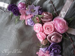 (nigarhikmet) Tags: pink flowers roses flower rose beads purple needlework handmade embroidery silk craft lint decor desing ribbonrose stumpwork ribbonembroidery tabledecor beadswork kurdela nakis carms ribbonwork ribbonflowers ribbonroses ineoyas kurdele bndchenstickerei kurdelenakisi kurdelanakisi lintborduren