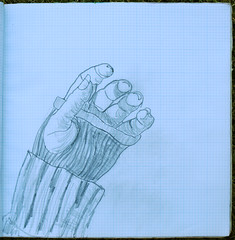 hand in graphite pencil