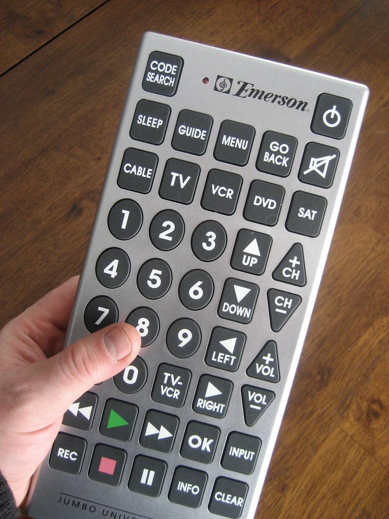 Jumbo Universal Remote (Full View)