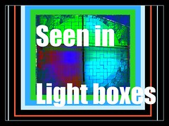 Light box Quadrant blue green red