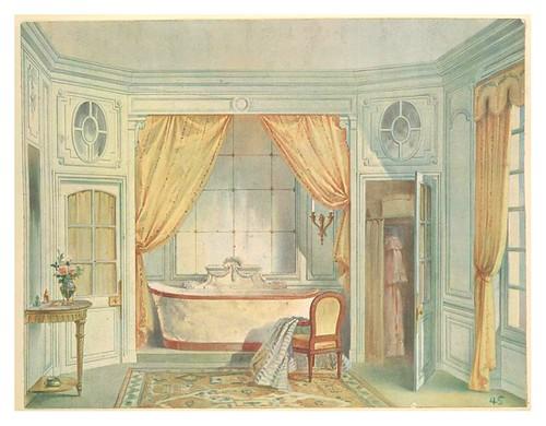 011- Sala de baño estilo Luis XVI- acuarela 1907