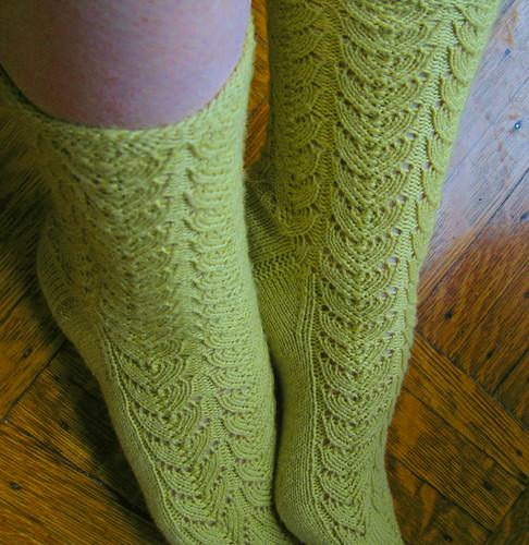 Green Lace Socks 8