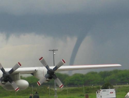 tornado and plane