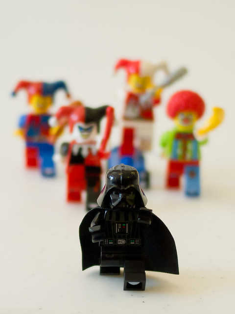 Star Wars: Attack of the Clowns - different angle, with depth of field