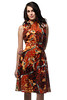 70s giraffe print dress (Exile Vintage) Tags: vintage dress babydoll 70s giraffe etsy 1970s