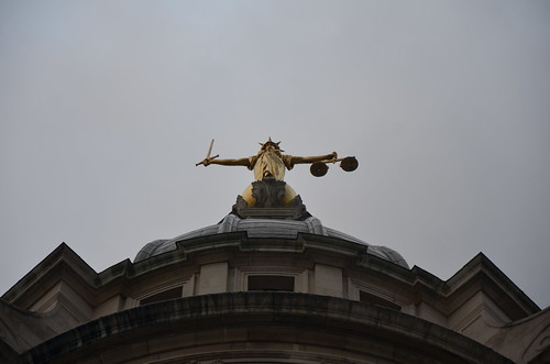 Justice atop the Old Bailey, London