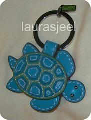Coach turtle charm