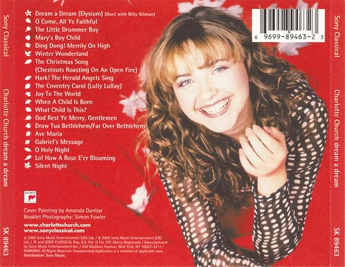 Charlotte Church - Dream A Dream (2000) (rear insert)