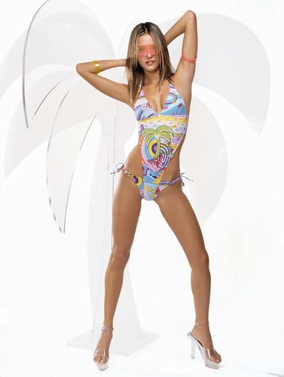 alessandra_ambrosio_multi-colored_swimsuit by one who stands alone