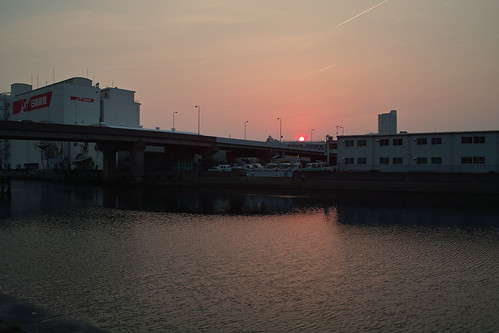 Sunset view from Hyogo canal