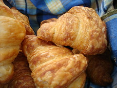 Croissants at Belle Epicurean at their stand in the University Market