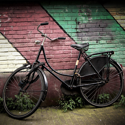 Locked Old Bike