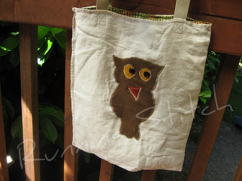 Murray the owl tote bag